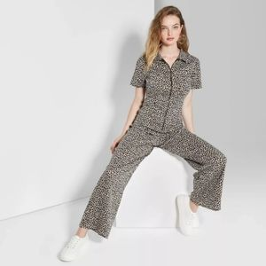 Wild Fable Cheetah Print Jumpsuit